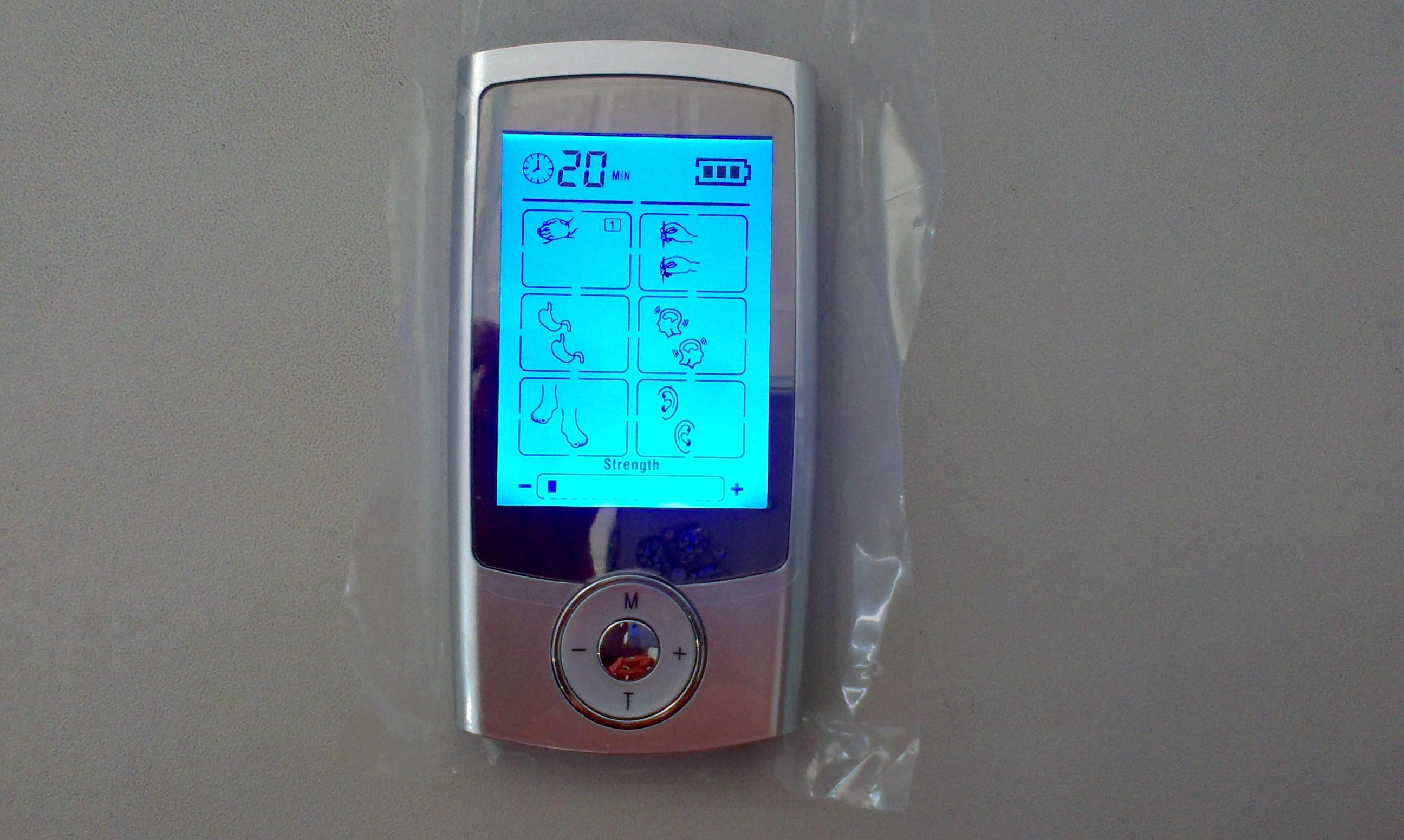 16 Modi TENS Einheit Digitale Elektronische Pulsmassager Therapie Muskel Ganzkörper Mini Akupunktur Magnetfeldtherapie Zehn Massage Silber Blau