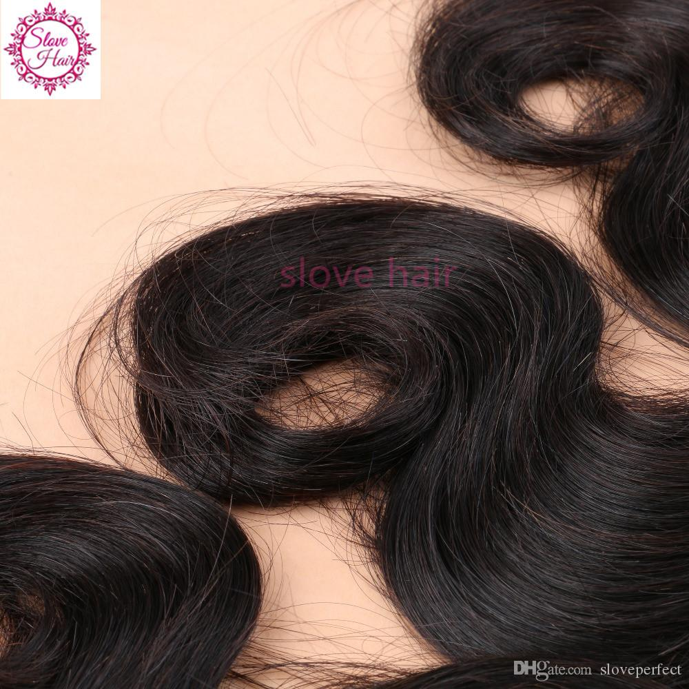 Grande vente brésilienne indienne péruvienne malaisienne non transformés de cheveux humains armure vague de corps Hot Slove Hair Products