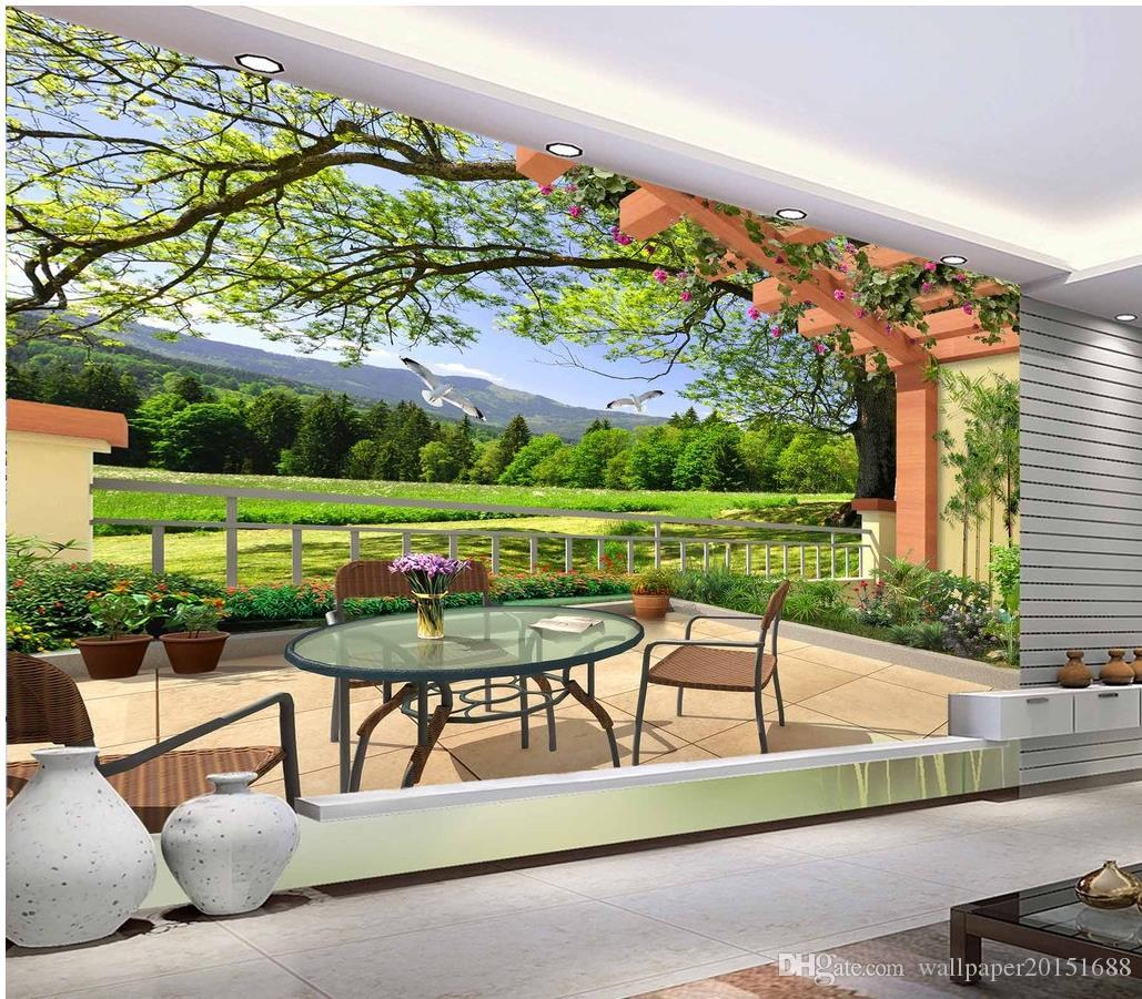fashion decor home decoration for bedroom Three-dimensional 3D landscape painting living room TV wall