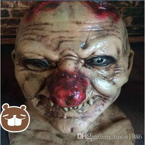 Grado superiore Horror Smorfia maschera pratica scherzo lattice maschera spaventoso zombie cadavere mummia diavolo extraterrestre intelligenza fantasma maschera giocattolo