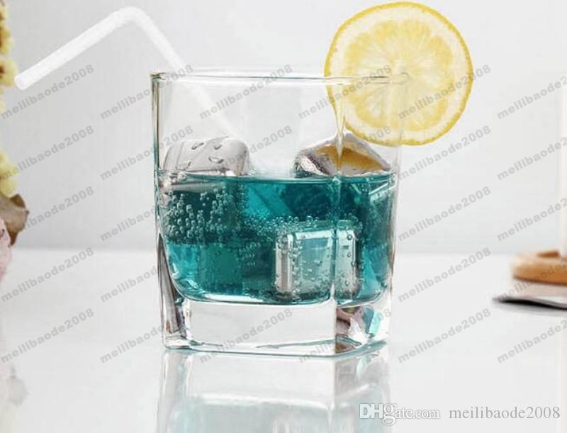 2017 NEW NEW Whiskey Wine Beer Stones Stainless Steel Cooler Stone Ice Rocks Cube Alcohol Chiller Stone MYY