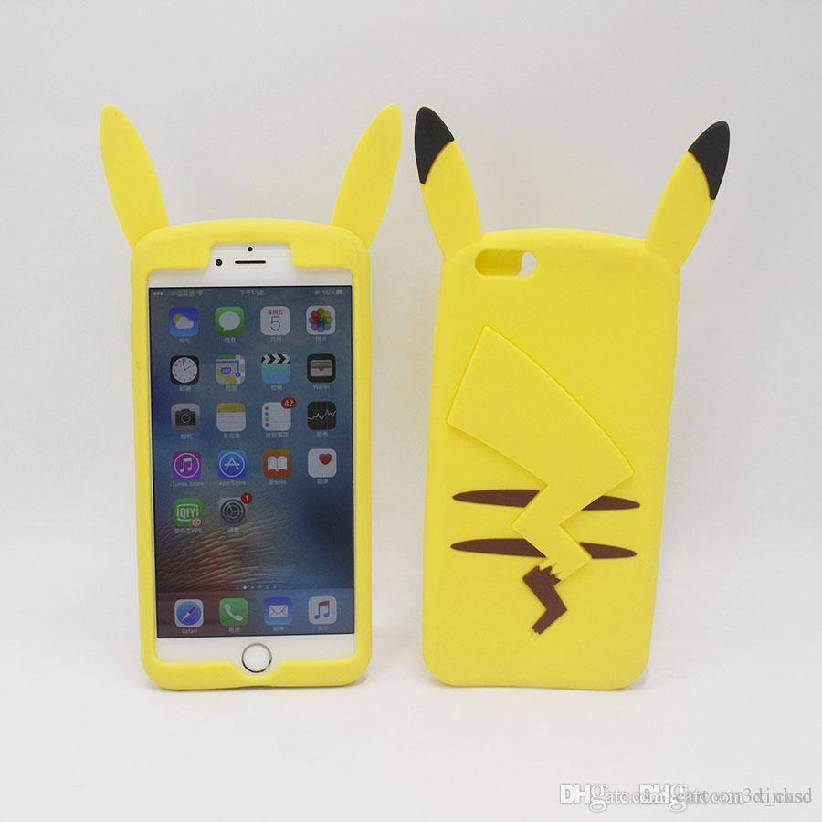 9e8f8d5d65 Cute 3D Cartoon Pocket Monsters Soft Silicone Case For IPhone 6 6S Plus  6plus 5 5S SE 5SE 4 4S Iphone6 Plus Pikachu Rubber Cover Phone Cases Reiko  Cell ...