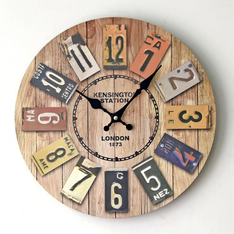 wholesale newest vintage wooden wall clock london style