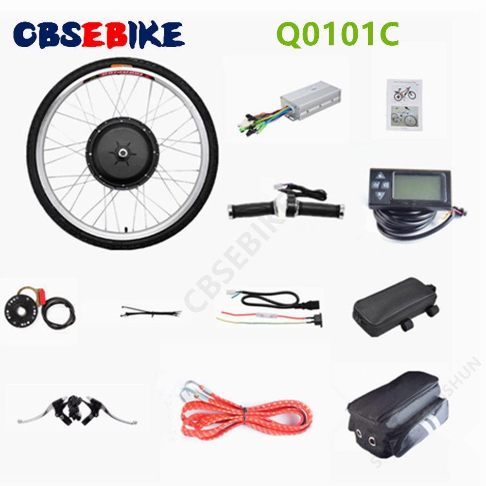 "CBSEBIKE 26""x1.8"" Front Wheel Electric Bicycle Motor Kit 48V 1000W Powerful Motor E-Bike Conversion w/ LCD Display"