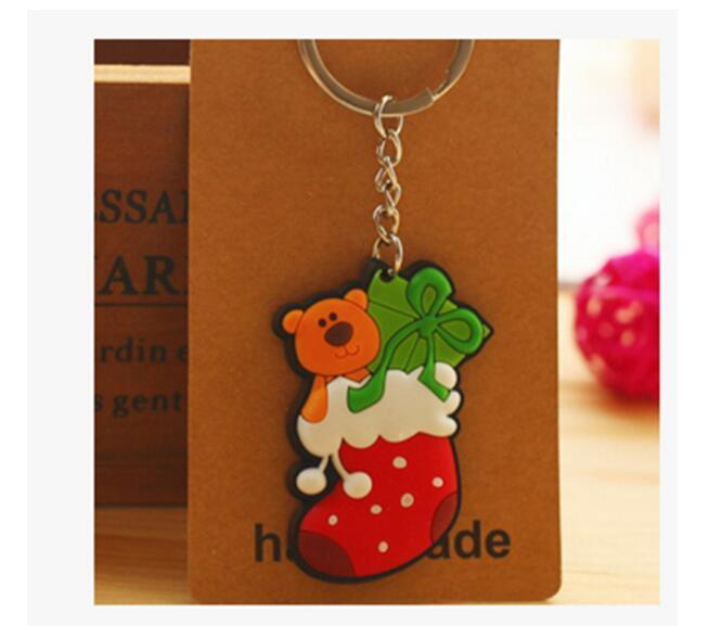 Eco-Friendly Christmas gifts Cartoon PVC Fridge Magnets Santa Claus Christmas socks snowman elk Christmas fridge more style