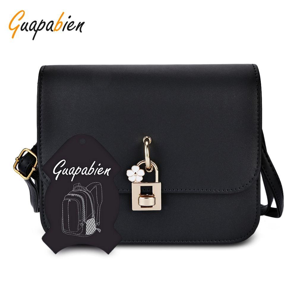 Guapabien Fashion Crossbody Bags Casual Flap Pu Solid Soft Cover Messenger  Bag Twist Lock Shoulder Crossbody Bag Ladies Shoulder Bag +B Portable Bag  Tote ... 9dc7229e354f7