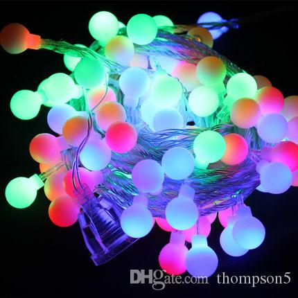 10m long christmas led lantern flasher lamp set with lights end plug bedroom decoration round ball lighting string copper line christmas led lamp flasher