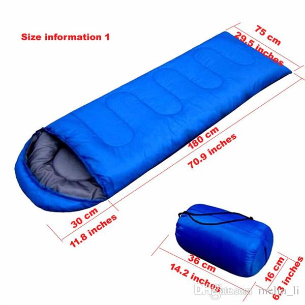 Outdoor Travelling Camping Hiking Envelope Sleeping Bags for Spring Autumn Ultralight Backpacking Sleeping Bag for Adult