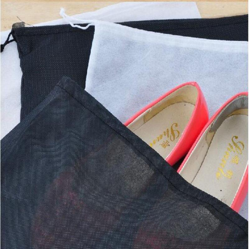 Neue Design 5 Farbe Mesh Kordelzug Taschen für Schuhe Kleidung Aufbewahrungstasche Zakka Organizer Reisepaket Neuheit Haushalt