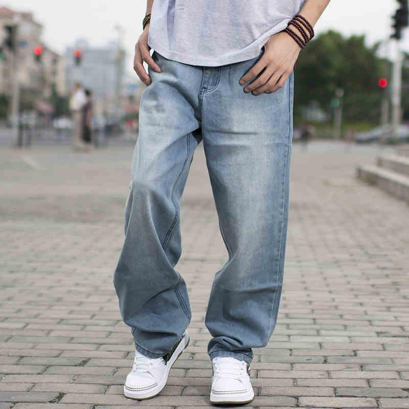 3a24f8b6ca7 Wholesale- 2017 Spring Men Baggy Blue Jeans Male Hip Hop Jogger ...
