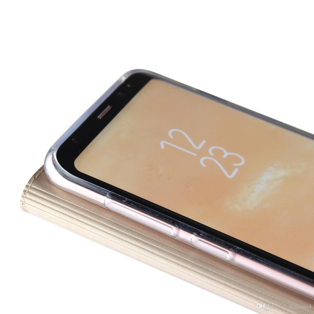 Yeni varış Lüks İnce kapak PU Deri Kılıf samsung galaxy s8 Durumda Moda Flip Kapak Coque Cep telefonu koruyucu cüzdan çanta kılıfları