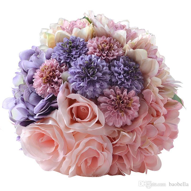 Compre Hecho A Mano De Alta Calidad De Color Rosa Púrpura Hermosa ...