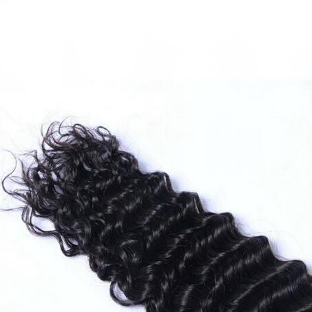 Brazilian Hair Deep Wave Curly Hair Bulk for Braiding Natural Color 10A Brazilian Human Hair No Attachment