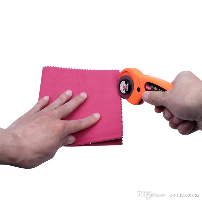 Cortador rotatorio con tela de salvaguardia flexible Papel Vinilo cuchilla circular Patchwork cuchillo de corte de artesanía de cuero