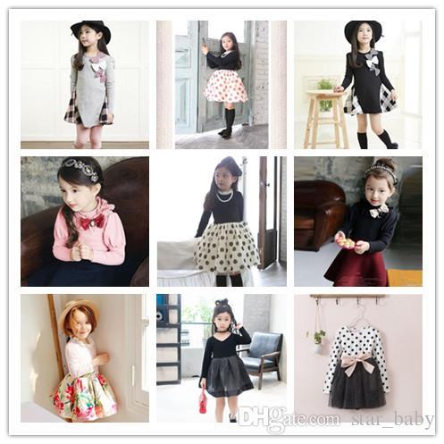 5f9e61d4c6ced 2017 Girls Dress Lace Neck Collar Flower Long Sleeve Shirt Flouncing Cotton  Shirt Kids Tops Children Clothing White Pink KB434