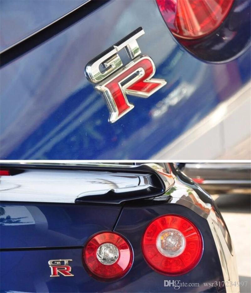 جودة عالية GTR معدن كروم 3D سيارة شعار شارة سيارة ملصق GTR معدن ملصق سيارة التصميم شارة شحن مجاني