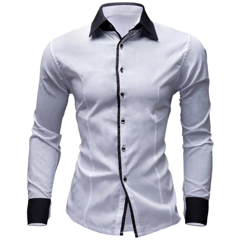 4bd2d1d7973 2019 Wholesale WJ Brand Solid Spring Autumn Cotton Dress Shirts Mens Casual  Shirt Long Sleeve Fashion Men Slim Fit Social Business Shirts From  Michalle