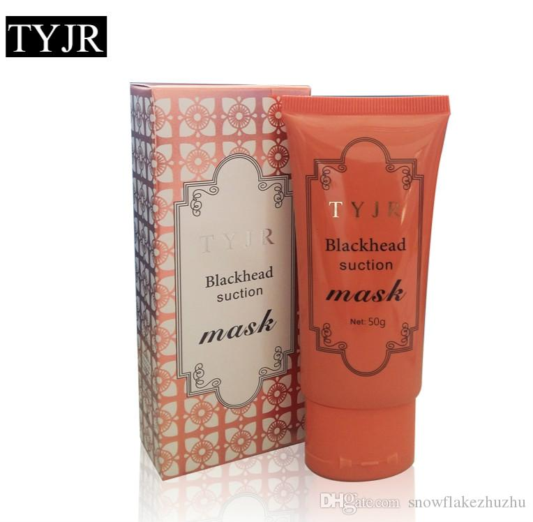 50ml TYJR bamboo char Black Mask Deep Cleansing Peel Off Face Skin Care Oil Control Pore Cleaner Mask Remover Blackhead Suction Facial Masks