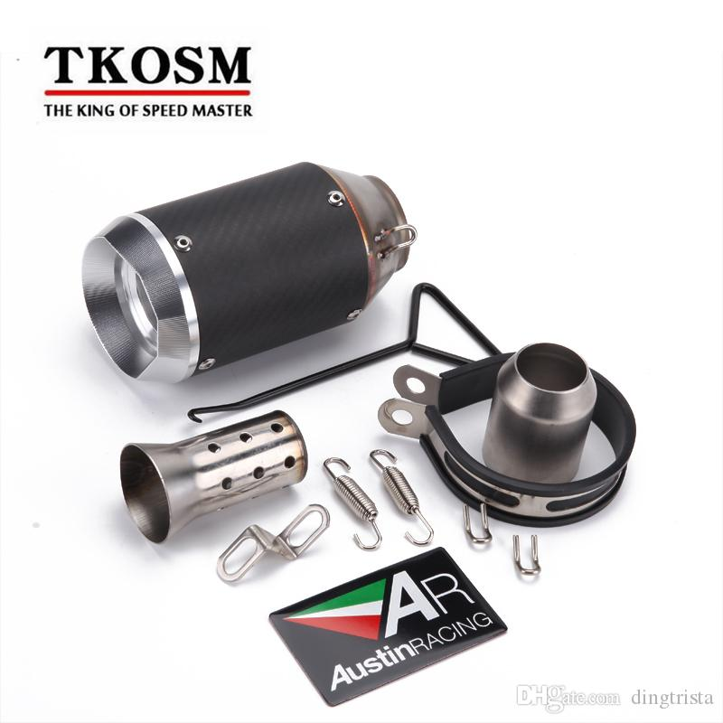 TKOSM 51MM Motorcycle for BMWS1000 YAMAHA R1 for Kawasaki Z1000 for Kawasaki ER6N Modified Akrapovic Carbon Fiber Stainless Steel Pipe