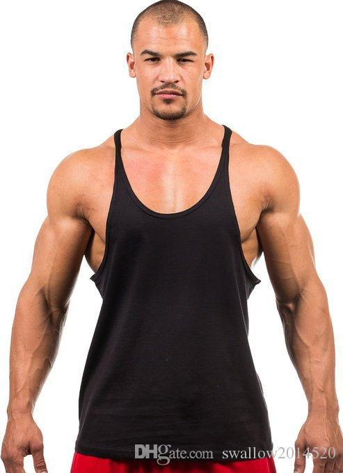 Gym Singlets Mens Tank Tops Shirt Bodybuilding Equipment Fitness Men's Golds Gym Stringer Tank Top Sports