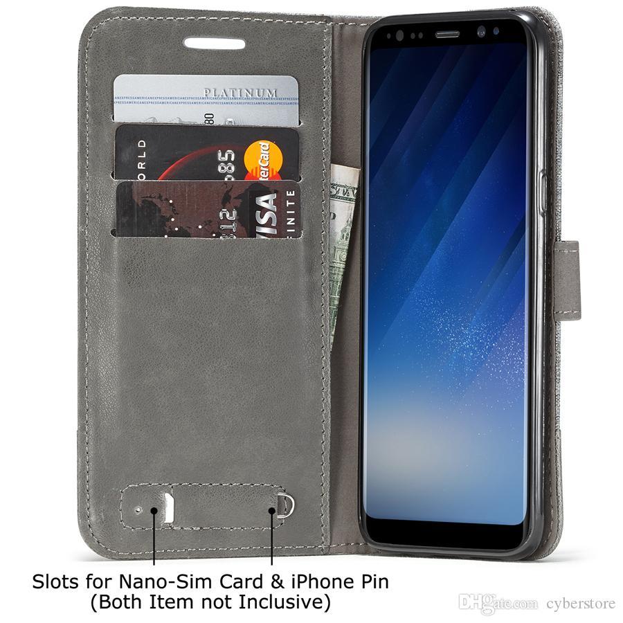 Para galaxy note 8 s8 além de série muxma gunny pano carteira de couro case híbrido phone cases capa para samsung j2 prime c9 pro