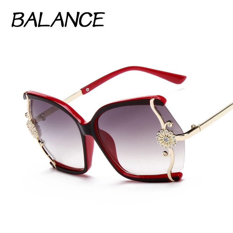 Stylish Large Butterfly Sunglasses for Women Brand Designer Eyewear ... 30b95adb6b