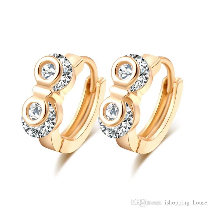 2018 Simple Design Earring Hoops Ear Clip With 18k Yellow Gold ...