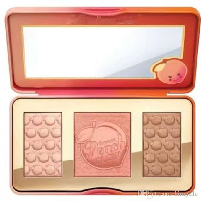 New Hot Sweet Peach Glow infused Bronzers & Highlighters makeup blush palette top quality DHL Discount Price