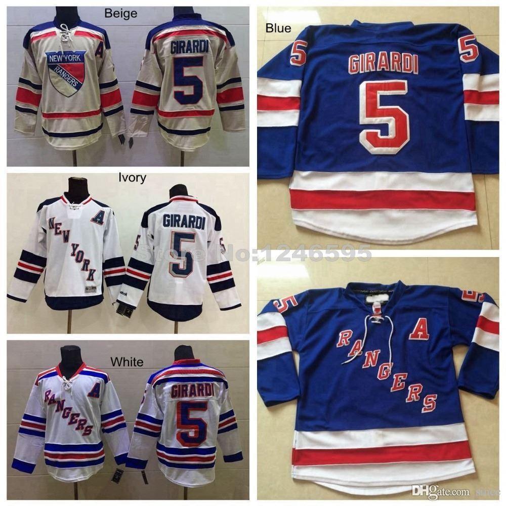 4d5b3f7c041 2019 2016 New, Cheap #5 Dan Girardi Jersey New York Rangers Hockey Jerseys  Royal Blue White 85th Navy NY Rangers Dan Girardi Hockey Jerseys From  Since, ...