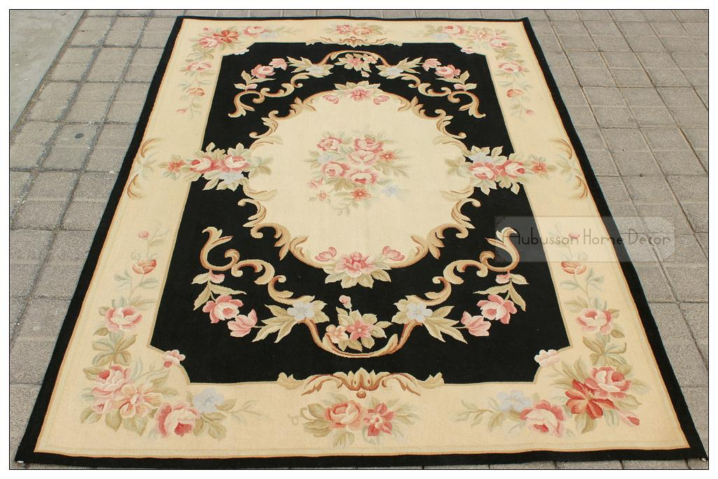 4x6 Black Cream French Aubusson Area Rug Shabby Pink Chic Roses Wool Woven Handmade Flat Weave Floor Carpet Whole Gabbeh Rugs Shaw From