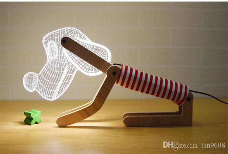 Fairy light 3d creative dimming led tablelight USB night light cartoon dog bedroom bedside birthday birthday gift