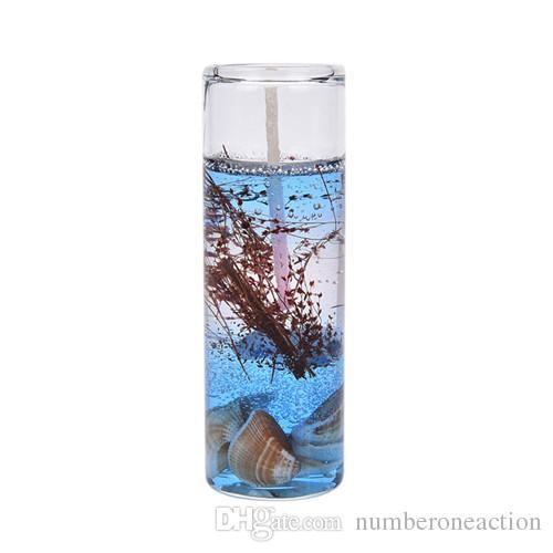 Aromaterapia sin humo velas 12 unids / set Romantic Ocean Shells jalea aceite esencial velas perfumadas velas de la boda colorida fiesta de casa decoración