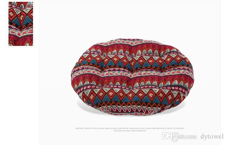 Bohemia Style Home Office Round Seat Chair Back Cushion Pillow High Quality Floor Mat Tatami Cushion Pad Coussin Free DHL EMS