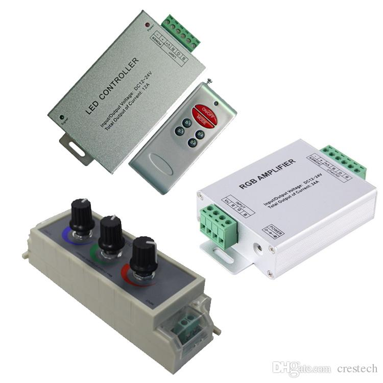 Led RGB Amplifier / PWM Dimmer / RF Controller Input dc 5v 12V 24V 24A Signal Repeater 120w 288w 576W for 3528 5050 light