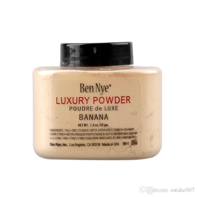 Shipping FAST!!Ben Nye Luxury Powder 42g New Natural Face Loose Powder Waterproof Nutritious Banana Brighten 660005