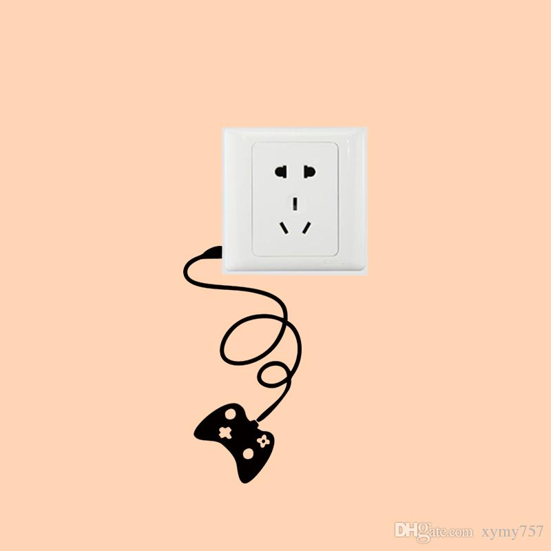 2017 Hot Sale Personality Gamepad Light Switch Funny Switch Stickers Wall Decal Vinyl Stickers Home Decor Creative Diy