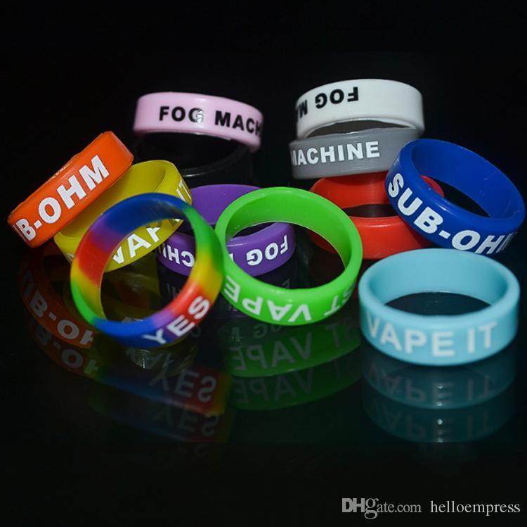 Wholesale MOQ is OEM Vape Bands E Cigarette Mod Decoration & Protection Ring Silicon Non-Slip Rubber Band For ECig Vapor DHL free