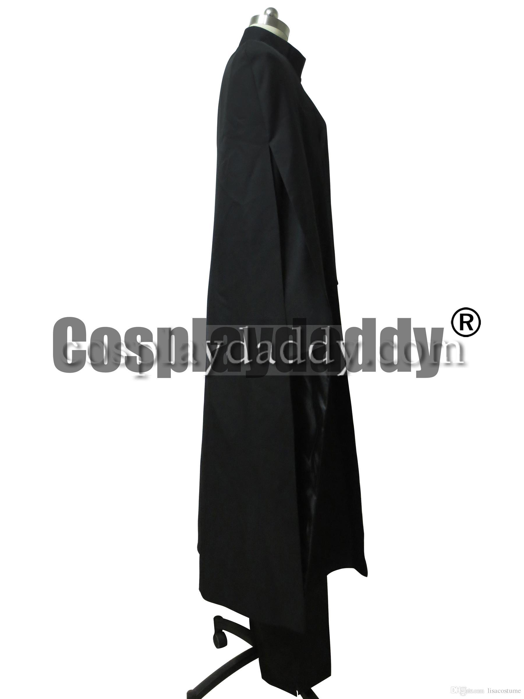 Harry Potter Ölüm Yadigarları Severus Snape Siyah Pelerin Cadılar Bayramı Cosplay Kostüm