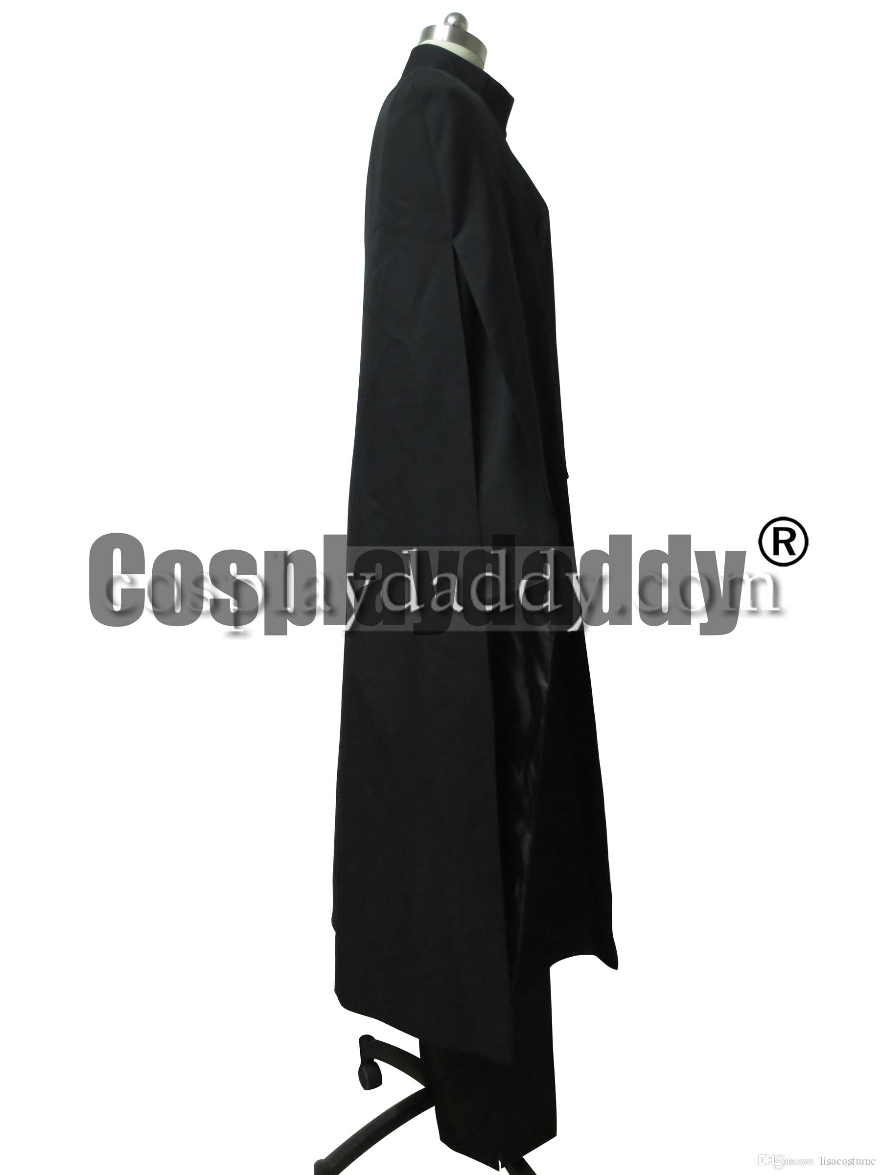 Harry Potter Reliquias de la Muerte Severus Snape Cabo Negro Disfraz de Cosplay de Halloween