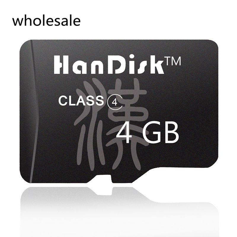 micro sd karte 4gb Großhandel HanDisk 4GB Schwarz Großhandel Micro SD Karte Qualität