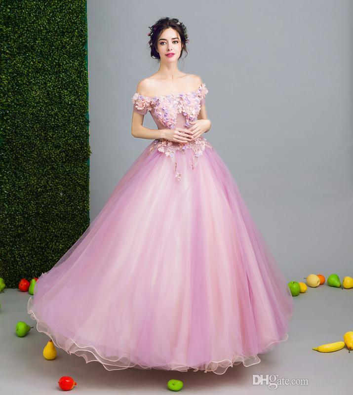 Compre Fashoin 2017 Largo Vestido De Noche De Lujo La Novia Princesa ...