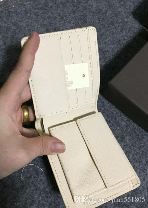 Esportare nuovo stile mens di marca in pelle borsa di cuoio portafoglio corto croce alta qualità portafogli uomini scatola