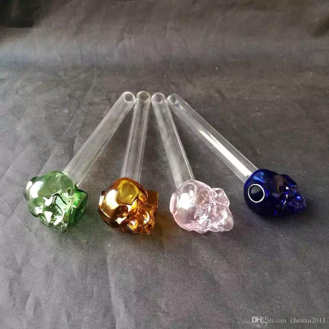 Sıcak satış Renkli Glas yağ burner boru şeffaf cam yağ yakıcı cam tüp cam boru yağ tırnak stokta ücretsiz kargo