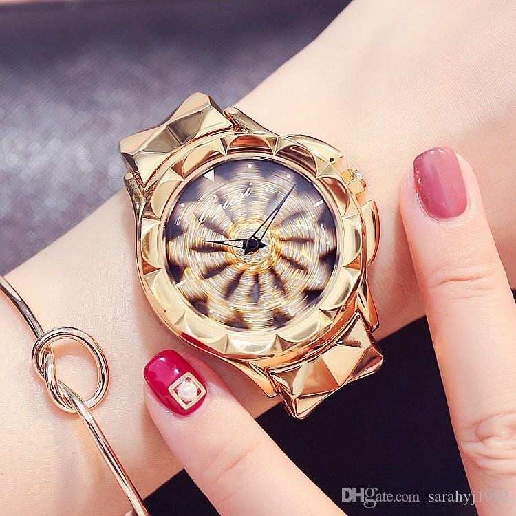 ffc96fa630ac Watch Women Rose Gold Color Fashion Watch LRUISI Time To Run The Trend Of  Personality Fashion Purple Steel With Diamond Ladies Watch Canada 2019 From  ...