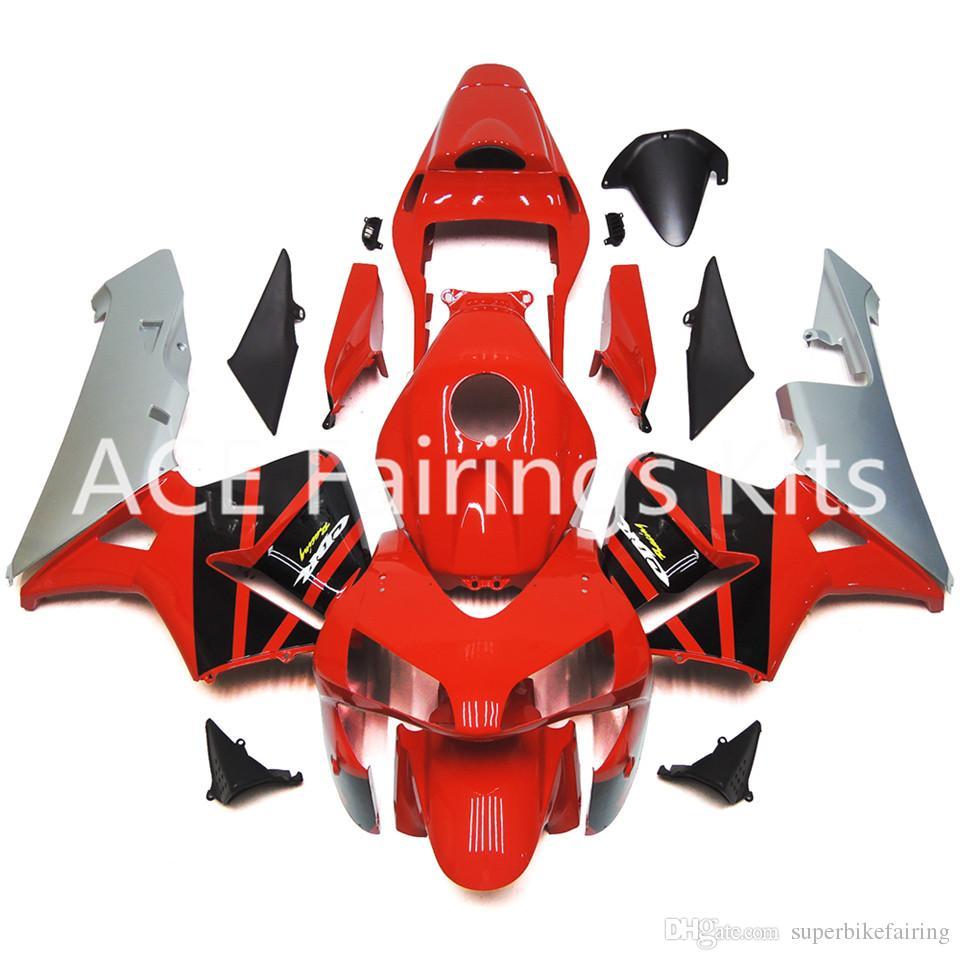 혼다 용 CBR600RR F5 03 04 CBR600RR 2003 2004 년 사출 용 ABS 오토바이 페어링 키트 화이트 블랙 A22S