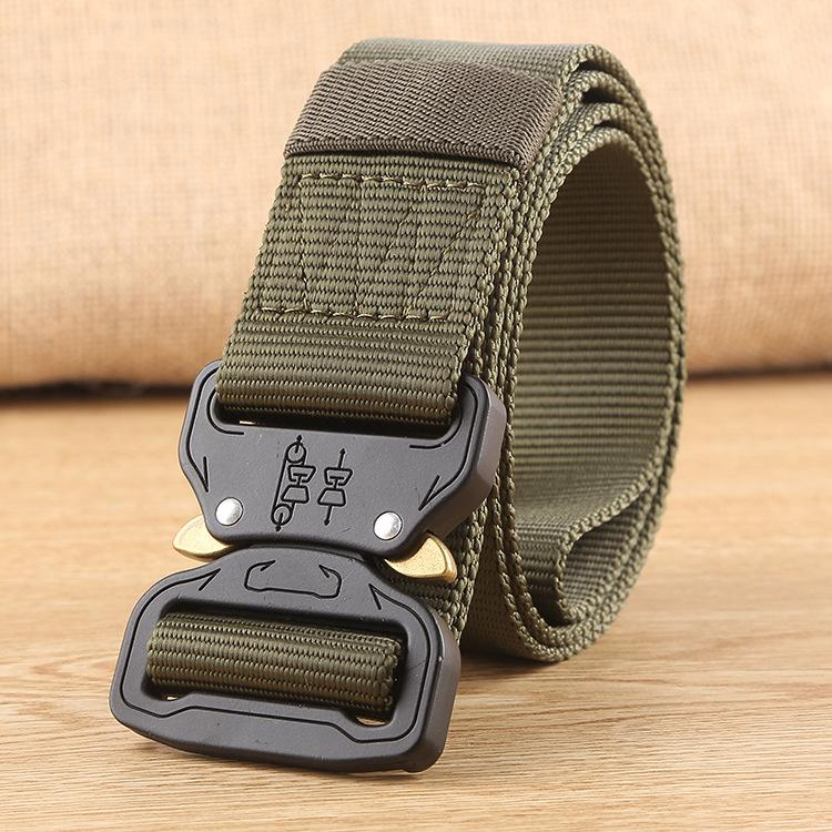Tactical Belt, Male Army FanBlack Hawk Pendant Nylon Inner Belt for Training