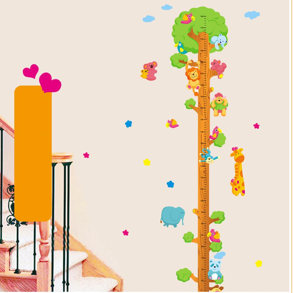 762 animal tree height wall stickers giraffe lion bear height 762 animal tree height wall stickers giraffe lion bear height chart for kids room wall stickers decoration for home wall stickers decorations from fst1688