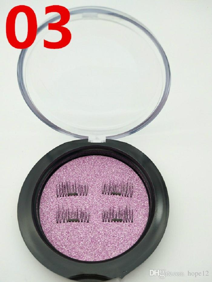 Creative NEW trend 3D magic reusable magnetic eyelashes hand made silk single magnet false eyelashes dhl