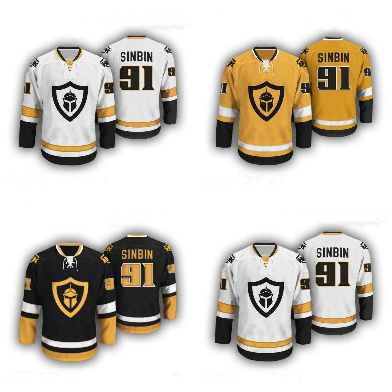 7d35f83e4 warrior lightning kh300 senior hockey jersey dark green gold black  vegas  golden knights 91 sinbin hockey jerseys