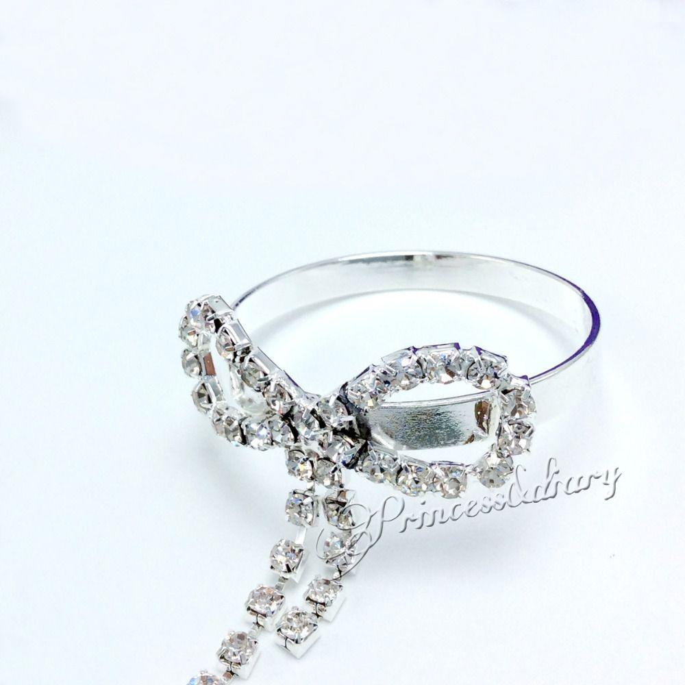 Wholesale- Rhinestone Butterfly Bow Napkin Ring Serviette Holder ...